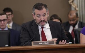 Committee Chairman Sen. Ted Cruz asks questions of U.S. Customs and Border Protection Executive Assistant Commissioner for Operations Support William Ferrara during testimony in a hearing before the Senate Committee on Commerce, Science and Space, Subcommittee on Aviation and Space, to discuss the role of the the air transportation industry in mitigating the spread of the novel coronavirus disease 2019 (COVID-19) in Washington, D.C., March 4, 2020. CBP Photo by Glenn Fawcett
