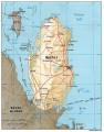 Карта Катара. Фото: CIA