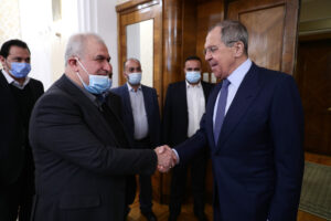 Мухаммад Раад и Сергей Лавров. Фото: МИД РФ