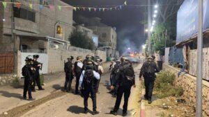 Израильская полиция в ходе беспорядков. Фото: пресс-служба полиции Израиля